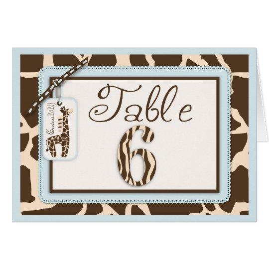 Safari Boy Table Card 6
