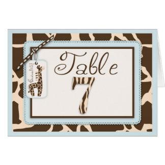 Safari Boy Table Card 7