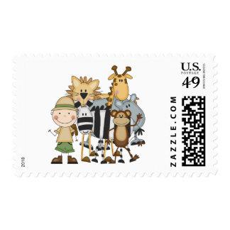 Safari Boy Tshirts and Gifts Stamp