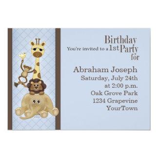 Safari Boy's Birthday Party Invitation