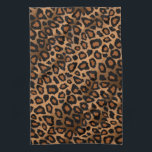 "Safari Brown Leopard Animal Print Kitchen Towel<br><div class=""desc"">Towel. Featuring an attractive jungle brown colored animal skin print. Made with high resolution vector and/or digital graphics for a professional print. NOTE: (THIS IS A PRINT. All zazzle product designs are &quot;prints&quot; unless otherwise stated under &quot;About This Product&quot; area) The design will be printed EXACTLY like you see it...</div>"