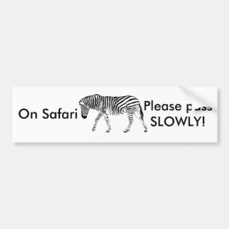 Safari bumper sticker