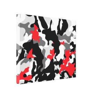Safari caliente blanco y negro lona envuelta para galerías