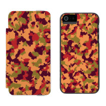 Safari Camouflage Wallet Case For iPhone SE/5/5s