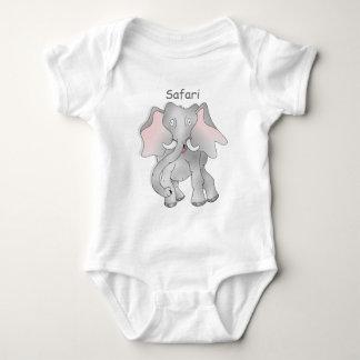 Safari cartoon African elephant Baby Bodysuit