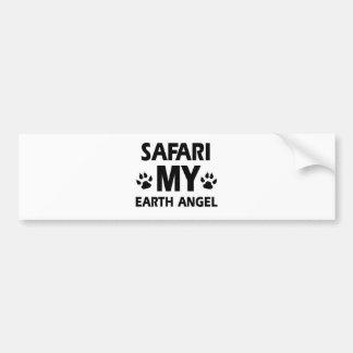 safari cat design bumper sticker