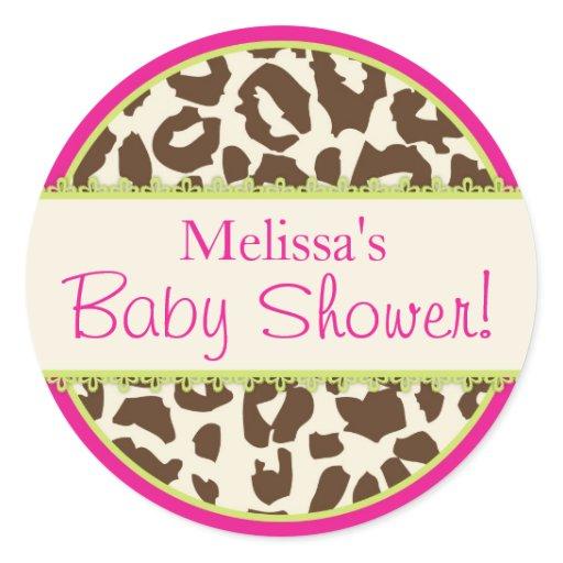 safari cheetah print baby shower sticker zazzle