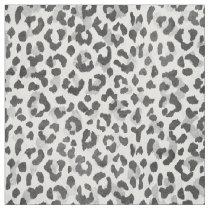 Safari chic black and white cheetah print fabric