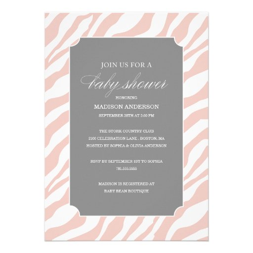 SAFARI CHIC SHOWER | BABY SHOWER INVITATIONS (front side)