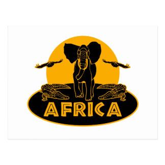 safari de África Postales