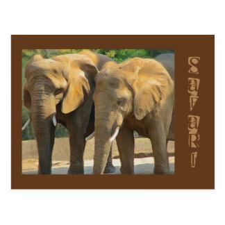 Safari de encargo del elefante tarjetas postales