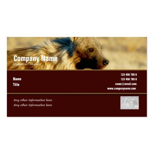 Safari de los hyenas del perfil de la tarjeta de v tarjetas de visita