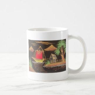Safari de moda de la nave de la vela del vintage d taza