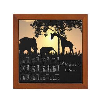 Safari desk organizer calendar