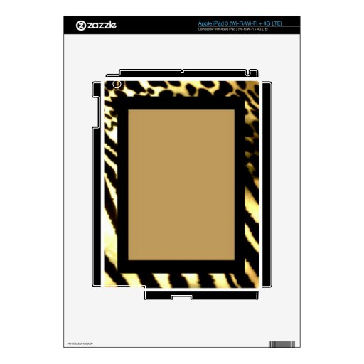 Safari Dreams Bordered Skins For iPad 3