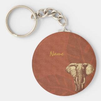 Safari Elephant Keychain