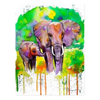 Safari Elephants Postcard