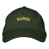 SAFARI EMBROIDERED BASEBALL HAT