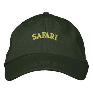 SAFARI EMBROIDERED BASEBALL HAT