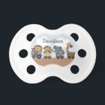 """Safari Express Animal Train Baby Pacifier<br><div class=""""desc"""">This adorable Safari Express Animal Train Baby pacifier makes a great gift and coordinates with other items in my Zazzle store.</div>"""