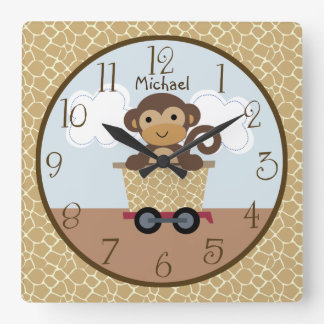Safari Express Animal Train Kid's Nursery Clock