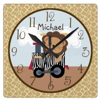 Safari Express Animal Train Nursery Clock