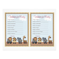 "Safari Express Animals ""Wishes for Baby"" Sheet"