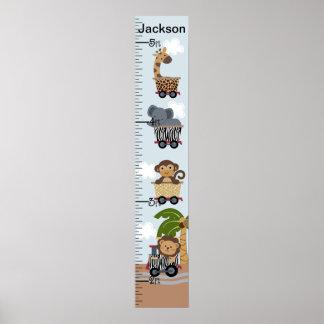 Safari Express Train Animals Growth Chart