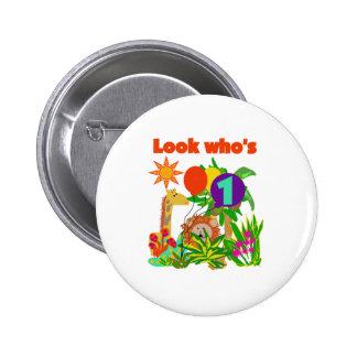 Safari First Birthday Pinback Buttons
