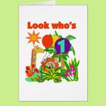Safari First Birthday Tshirts and Gifts Card