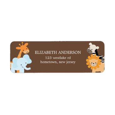 heartlocked Safari Friends Address Labels