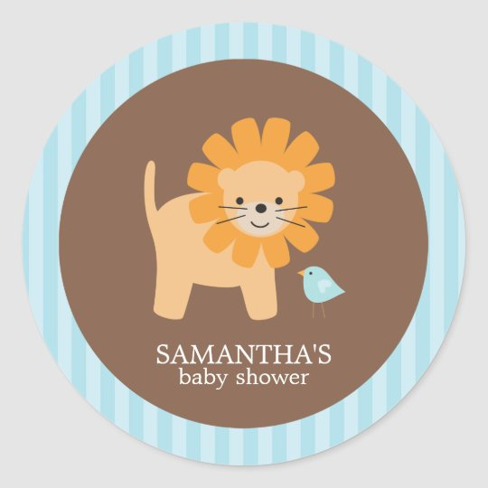 Safari Friends Baby Shower Stickers