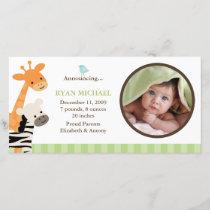 Safari Friends Birth Announcement