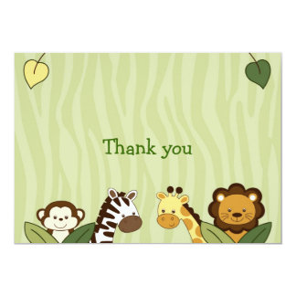 Safari Friends Jungle Animal Thank You Note Cards
