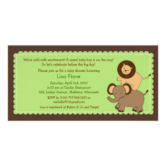 Safari Friends Jungle Baby Shower Invitations