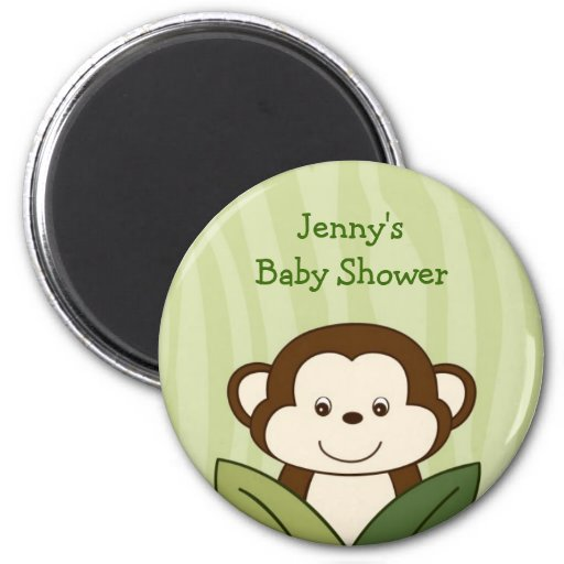 Safari Friends Monkey Baby Shower Favor Magnets