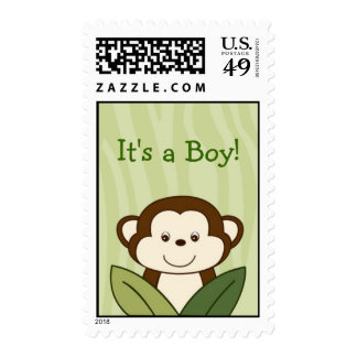 Safari Friends Monkey Personalized Postage Stamps