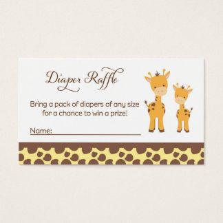 Safari Giraffe Baby Shower Diaper Raffle Tickets