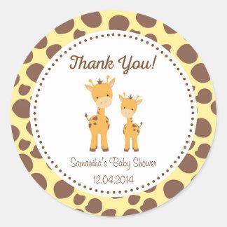 Safari baby shower stickers zazzle - Stickers girafe chambre bebe ...