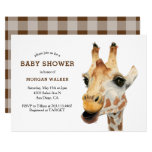 Safari Giraffe Gender Neutral Baby Shower Invitation