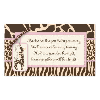 Safari Girl Gift Tag B3 Double-Sided Standard Business Cards (Pack Of 100)