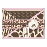 "Safari Girl Invitation Card 2 5"" X 7"" Invitation Card"