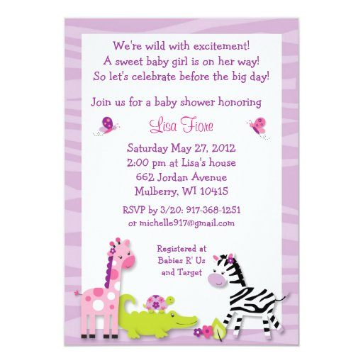 Animal Baby Shower Invitations was very inspiring ideas you may choose for invitation ideas