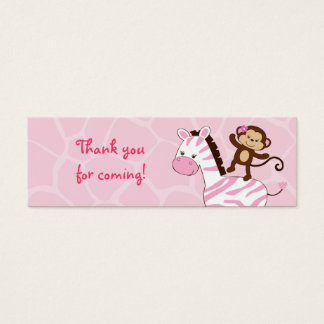 Safari Girl Jungle Animal Favor Gift Tags