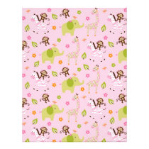 Safari Girl Jungle Animal Scrapbook Paper