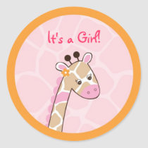 Safari Girl Jungle Giraffe Stickers Envelope Seals