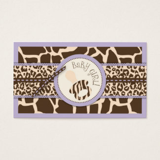 Safari Girl LAV Gift Tag 2