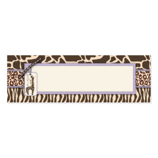Safari Girl LAV Skinny Gift Tag 2 Double-Sided Mini Business Cards (Pack Of 20)