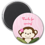Safari Girl Monkey Party Favor Magnets