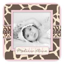 Safari Girl Photo Sticker